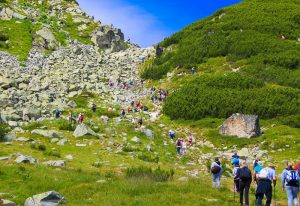 Summer hiking in rila mountain