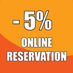 -5% отстъпка за онлайн резервация икона