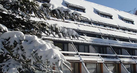 Снежна фасада на хотел Ела Боровец, Snejna fasada hotel Ela Borovets